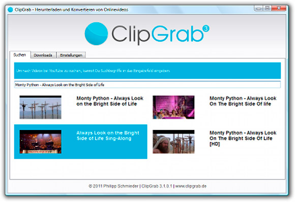 clipgrab descarga y convierte videos youtube